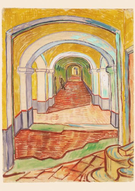 Van Gogh, Vincent: Corridor in the Asylum. Fine Art Print/Poster. Sizes: A4/A3/A2/A1 (004186)